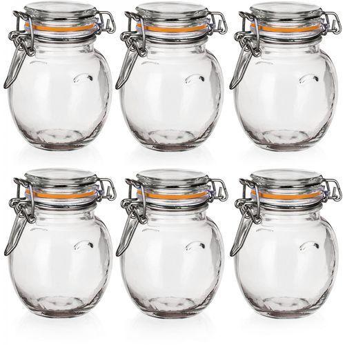 Banquet Szklany pojemnik hermetyczny LINA 120 ml 6 sztuk