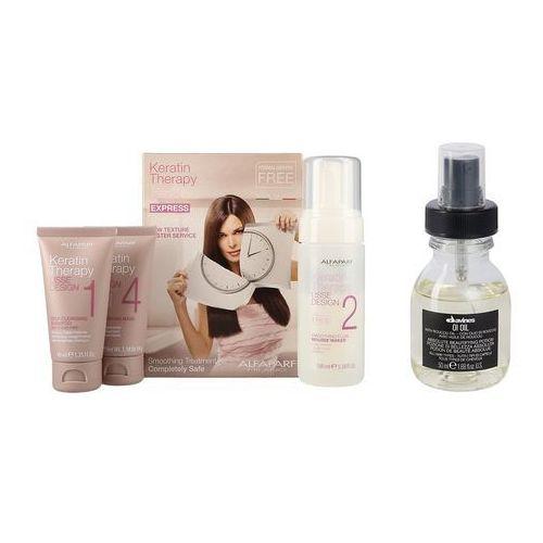 Alfaparf Keratin Therapy Kit and OI Oil | Zestaw do włosów: keratynowe prostowanie + olejek do włosów 50ml