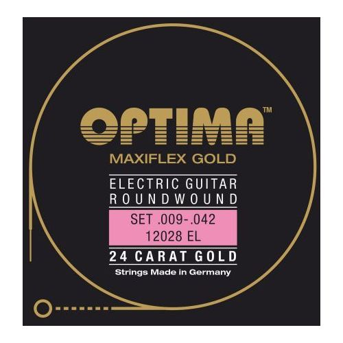 12028el (674647) struny do gitary elektrycznej gold strings. maxiflex komplet marki Optima
