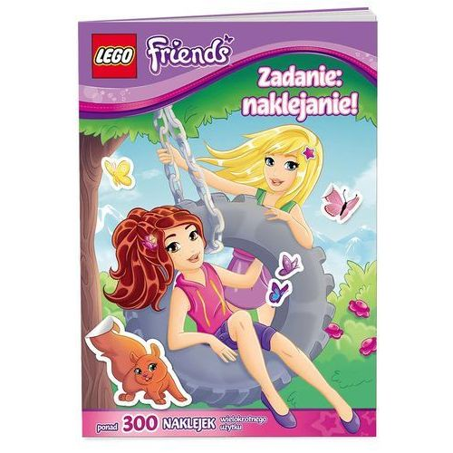 KSIĄŻKA LEGO FRIENDS - ZADANIE NAKLEJANIE!