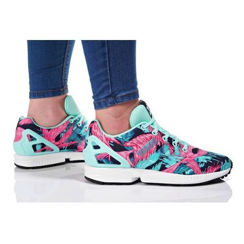originals zx flux tenisówki i trampki energy aqua/footwear white marki Adidas