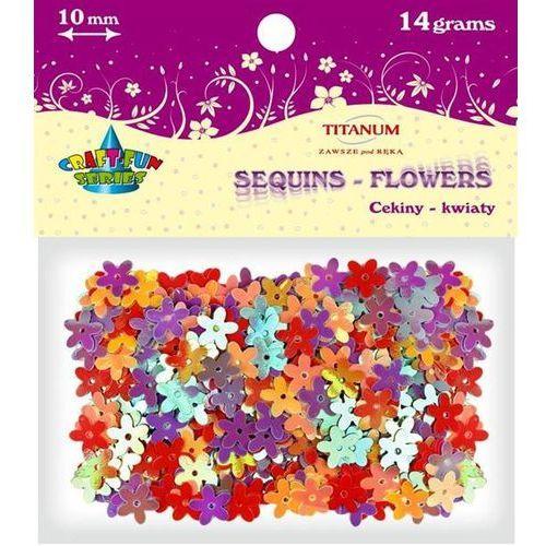 Titanum Cekiny kwiatki,10mm mix kolorów, 14 g, craft-fun - różnokolorowy (5907437647592)