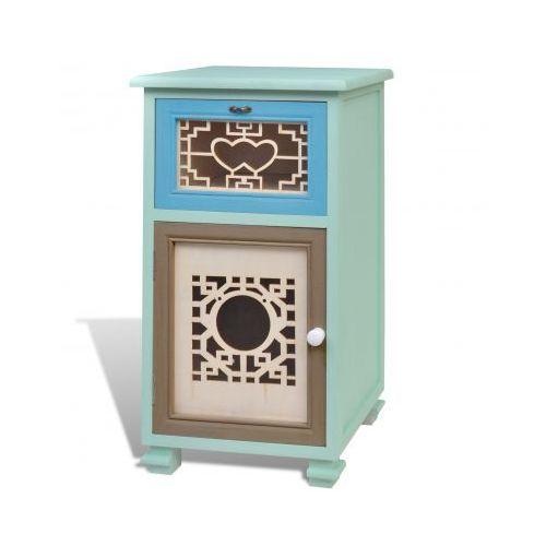 Kolorowa szafka, 1 szuflada, 1 drzwi doskonałe rzemiosło, vidaXL z VidaXL