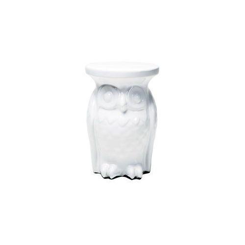 White Diva Owl Stolik Biały Porcelanowy w Sowa 36x25cm (76684), Kare Design z sfmeble.pl