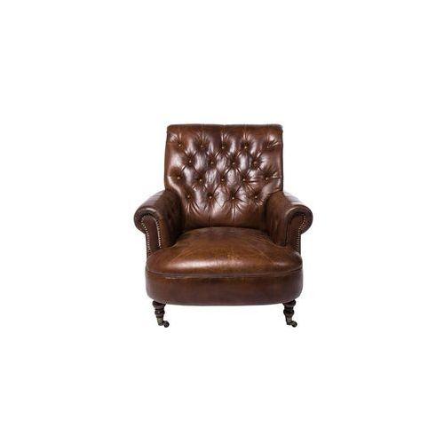 Kare Design Low Cigar Lounge Fotel Brązowy Skóra Naturalna (75987), marki Kare Design do zakupu w sfmeble.pl