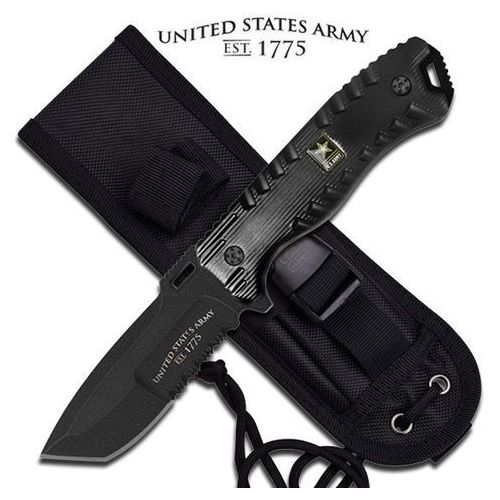 Nóż o stałym ostrzu us army a-1016bk marki Usa