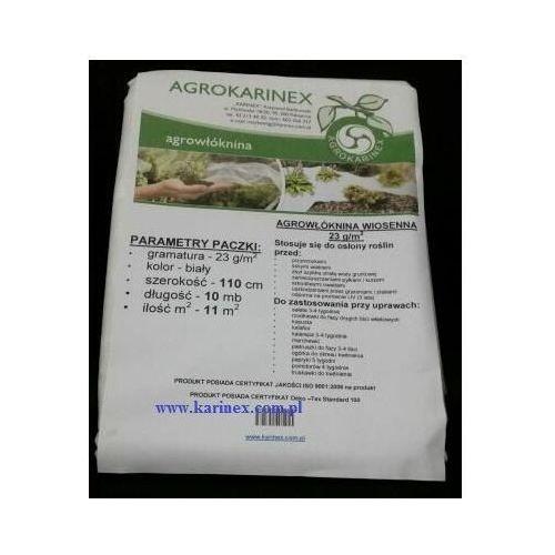 Agrowłóknina wiosenna pp 23 g/m2 biała 1,1 x 10 mb. marki Agrokarinex