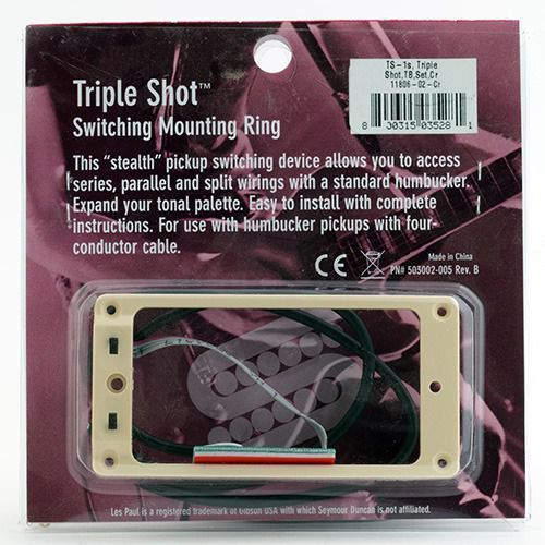 sts 1s cre triple shot, switching mounting ring set, flat/trembucker - creme marki Seymour duncan