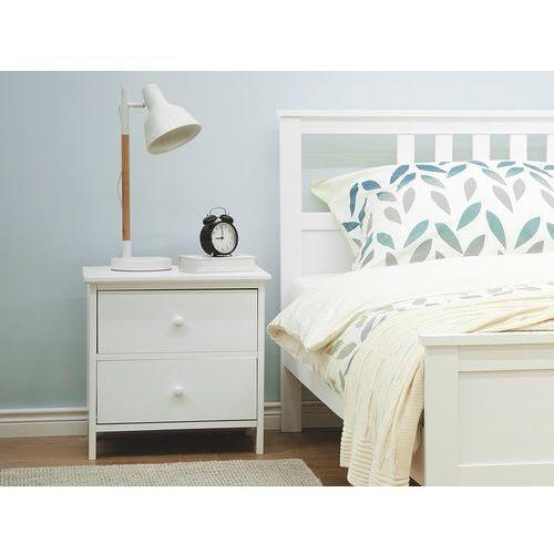 Szafka nocna biała 2 szuflady ROSSELANGE (4260586351231)