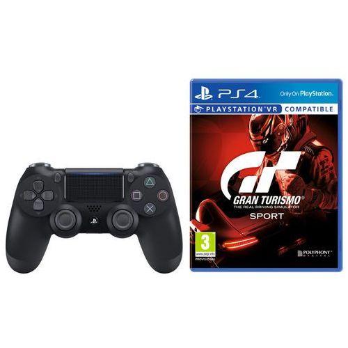 Sony DualShock 4 v2 (czarny) + Gran Turismo Sport, KAK4DUALS4GTS