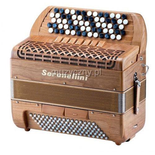 Serenellini 373 mw solid wood 37(67)/3/7 96/4/2 akordeon guzikowy (wykończenie drewniane)