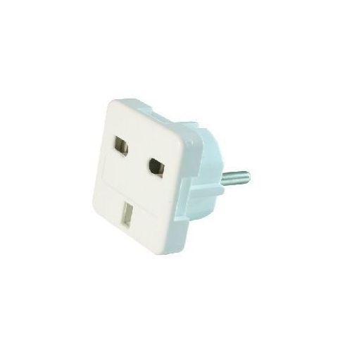 Produkt z kategorii- pozostały osprzęt sieciowy - Gembird adapter zasilania ANG/PL (Wtyk PL/Gniazdo ANG) Biały (A-AC-UKEU-001) Darmowy odbiór w 15 miastach!