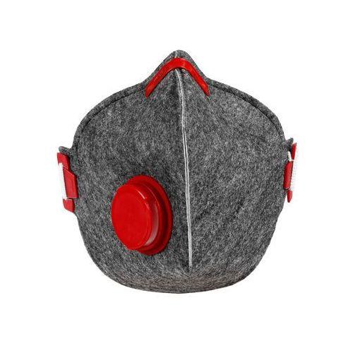 Higieniczna półmaska antysmogowa szaro-czerwona marki Citymask