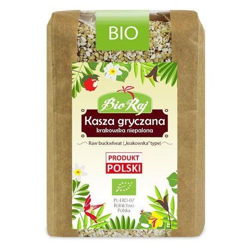 Kasza gryczana krakowska niepalona bio 400 g - bio raj marki Bio raj (konfekcjonowane)