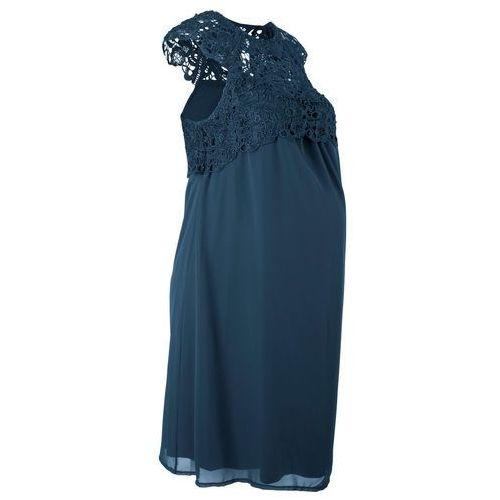 Bonprix Sukienka ciążowa na uroczyste okazje ciemnoniebieski