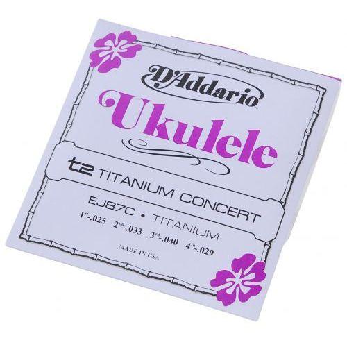 ej-87c ″titanium concert″ struny do ukulele marki D′addario