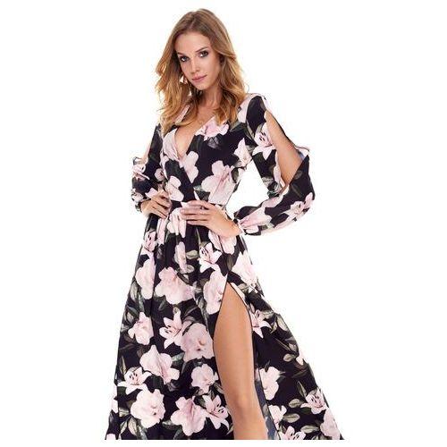 Sukienka penelopa granatowa w kwiaty marki Sugarfree
