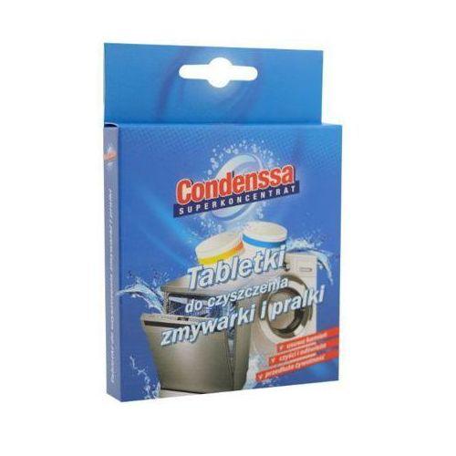 2szt tabletki do czyszczenia zmywarki i pralki (1szt do pralki + 1szt do zmywarki) marki Condenssa