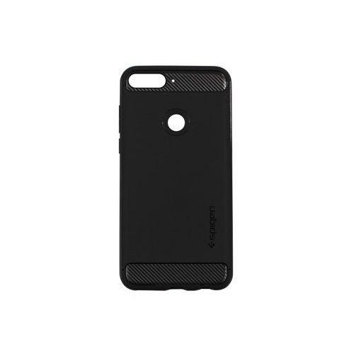 Huawei Nova 2 Lite - etui na telefon Spigen Rugged Armor - czarny, kolor czarny