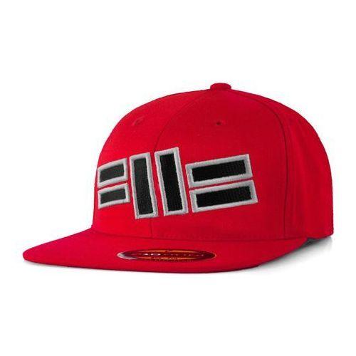 Pit bull west coast Pit bull full cap flat front logo czerwony - czerwony