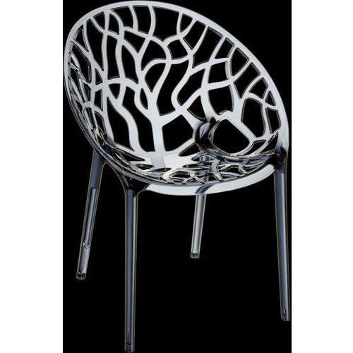 D2.design Krzesło coral - szary ||transparentny (5902385707572)