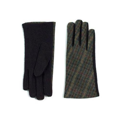 Art Rękawiczki pepitka brązowe - brązowe