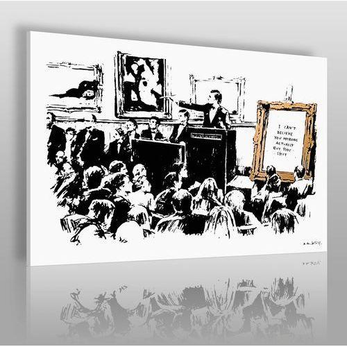 Vaku-dsgn Banksy - tłum - nowoczesny obraz na płótnie