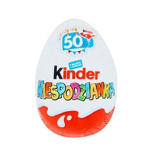 Kinder 20g niespodzianka słodkie jajko z niespodzianką pokryte czekoladą mleczną marki Ferrero