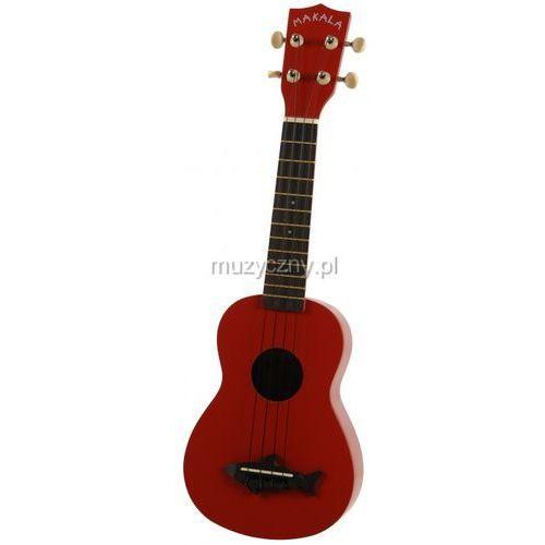 makala shark ss-red ukulele sopranowe, czerwone marki Kala