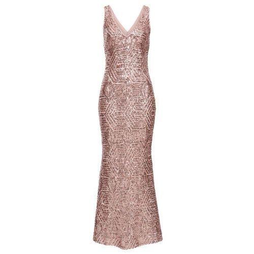 Sukienka z cekinami bonprix różowy kwarc