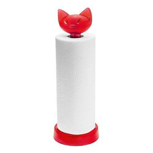 Stojak na ręczniki papierowe miaou malinowy marki Koziol