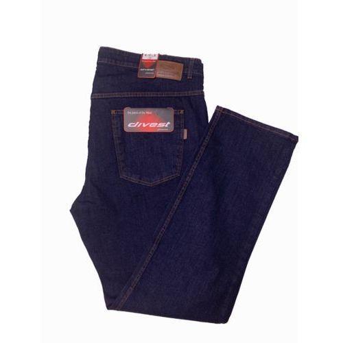 Divest spodnie długie jeansowe Model 510 124/34 Ciemny Jeans Bawełna / Lycra, kolor niebieski