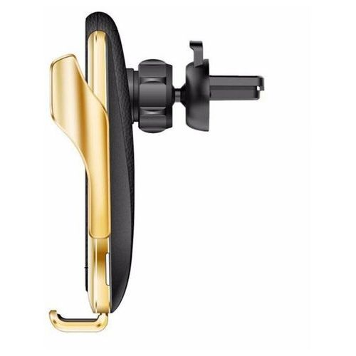 Samochodowa bezprzewodowa ładowarka Qi 10 W elektryczny uchwyt na telefon srebrny - Srebrny (9111201901032)