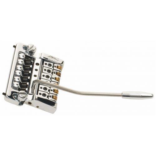 2210 - stud mount guitar tremolo, alumium cam, brass saddles - chromowany mostek do gitary marki Kahler