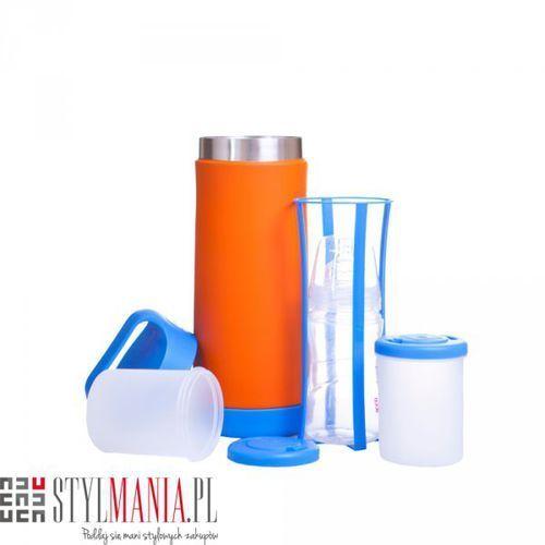 Termos na butelkę i na żywność 40 Settimane BabyFood niebiesko-pomarańczowy - produkt z kategorii- termosy