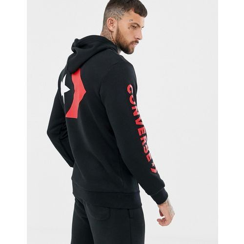 Converse Star Chevron Hoodie in black 10007048-A02 - Black, kolor czarny