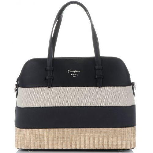 de3d7027709cd Modne torebki damskie kuferki wykonane z wysokiej jakości skóry ekologicznej  marki czarne (kolory) marki David jones 125