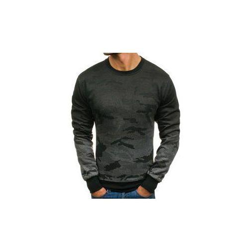 Bluza męska bez kaptura moro-grafitowa denley dd132-2, J.style