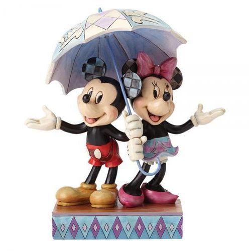 Deszczowy romans myszki rainy day romance (mickey & minnie mouse figurine) 4054280 figurka ozdoba ślubna marki Jim shore