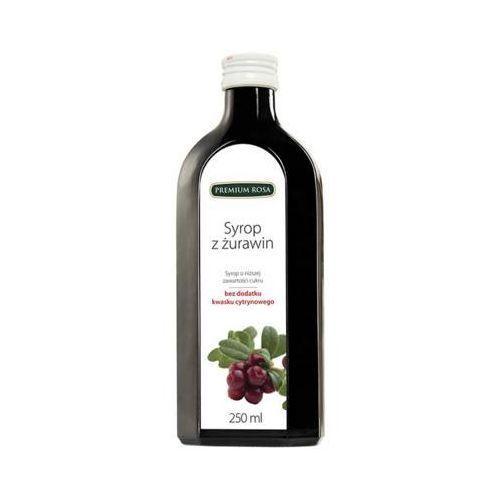 250ml żurawina syrop o niższej zawartości cukru marki Premium rosa
