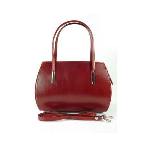 9db442af61c34 Skórzana torebka kuferek teczuszka czerwona vp144r marki Vera pelle 196,35  zł MADE IN ITALY VERA PELLE wymiary TOREBKI: Wysokość po środku: 21 cm  Szerokość ...