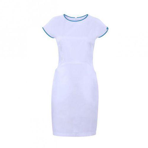 Sukienka kosmetyczna VENA Bianco Biała/Turkusowa - oferta (75662170f701e70b)