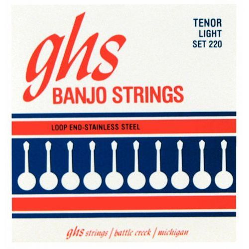 Ghs tenor struny do banjo tenorowego, 4-str. loop end, stainless steel, light,.009-.028