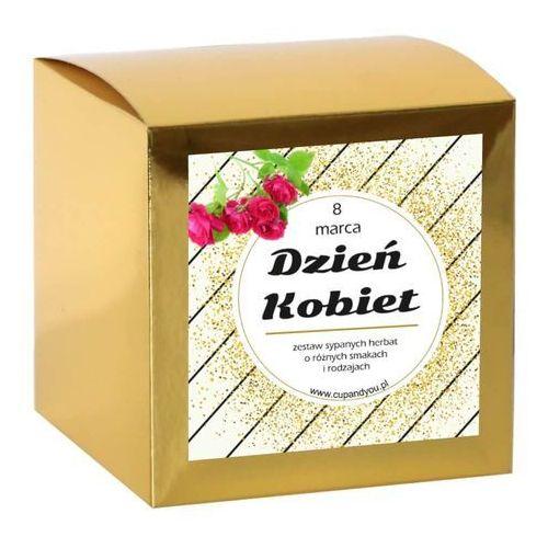 Herbata na Dzień Kobiet w pudełku - wyjątkowy prezent upominek podarunek 14 smaków 13*5g + 8g