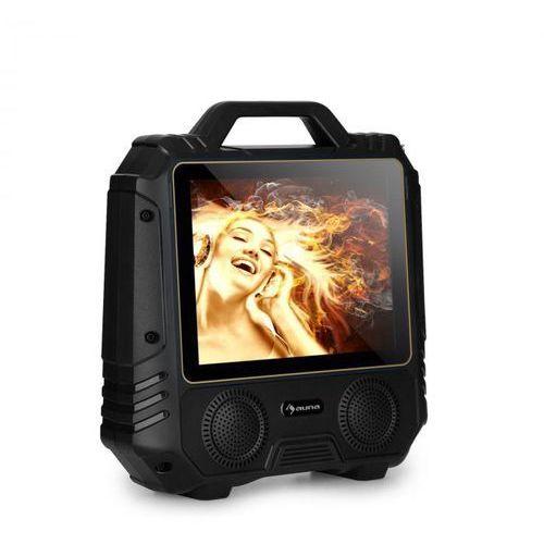"""Auna centerstage 4 przenośny głośnik karaoke 30 w 14,1"""" wyświetlacz mikrofon bezprzewodowy"""