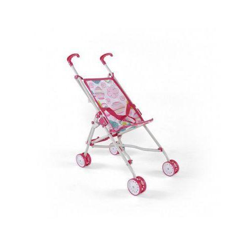 Wózek dla lalek JULKA zabawka różowo-biały (wózek dla lalki)