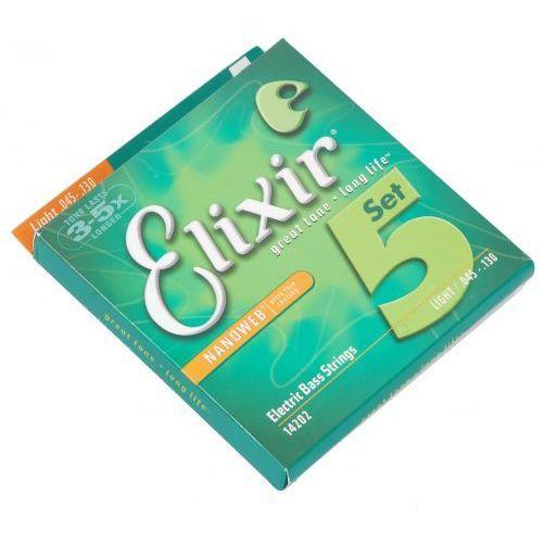 Elixir 14202 nw l5 struny do gitary basowej 5-str. 45-130