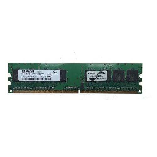 Pamięć RAM 1x 1GB ELPIDA DDR2 667MHz PC2-5300 UDIMM | EBE11UD8AJWA-6E-E
