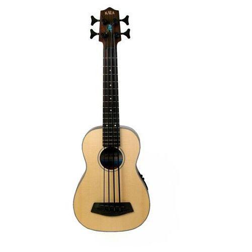 Kala ubass-ssmhg-fs-lh u-bass spruce top, fretted, lefthand, gitara basowa leworęczna 4-strunowa z pokrowcem