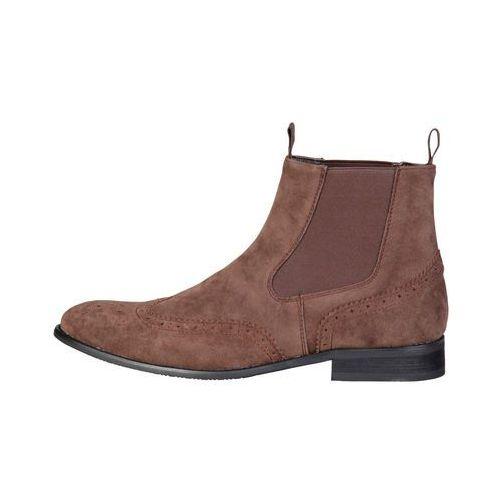 Buty do kostki botki męskie PIERRE CARDIN - ZD3711-77, kolor brązowy